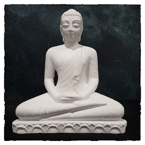 8-inch Buddha Statue handcast and finished by Bhante Sumana