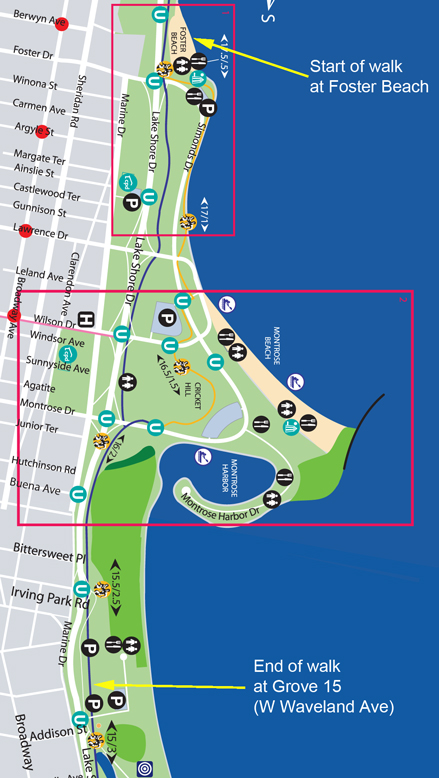 Lakefront Trail Chicago Map