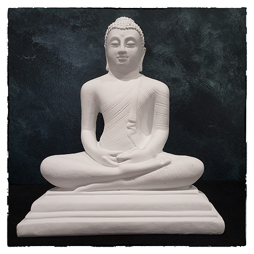 10-inch Buddha Statue handcast and finished by Bhante Sumana